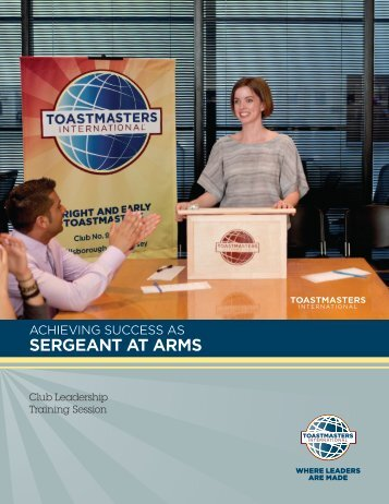 SERGEANT AT ARMS - Toastmasters International