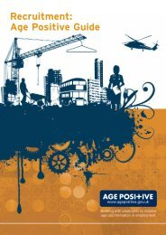 Recruitment: Age Positive Guide - Department for Work and Pensions