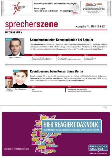 Schnaitmann leitet Kommunikation bei Schuler - Pressesprecher