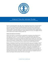 Interact Faculty Adviser Guide (PDF) - Rotary International