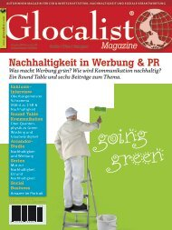 Nachhaltigkeit in Werbung & PR - Nachrichten