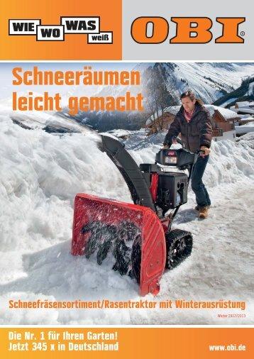 OBI Katalog Schneefräsen 2012/2013 - Werbung OBI ... - A4-Center
