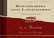[+][PDF] TOP TREND Boundaries and Landmarks: A Practical Manual (Classic Reprint)  [NEWS]