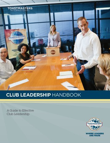 CLUB LEADERSHIP HANDBOOK - District 25 Toastmasters