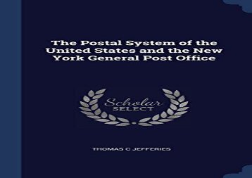 [+][PDF] TOP TREND The Postal System of the United States and the New York General Post Office  [NEWS]