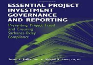 [+][PDF] TOP TREND Essential Project Investment Governance and Reporting: Preventing Project Fraud and Ensuring Sarbanes-Oxley Compliance  [FULL]
