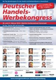 Deutscher Handels- Werbekongress - Management Forum der ...