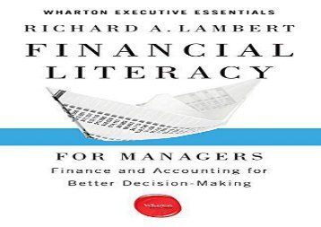 [+]The best book of the month Financial Literacy for Managers: Finance and Accounting for Better Decision-Making (Wharton Executive Essentials) [PDF]