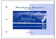 [+]The best book of the month Working Papers to Accompany Financial Accounting [PDF]