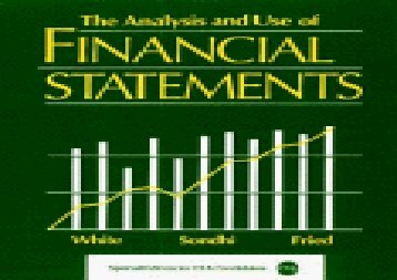 [+][PDF] TOP TREND The Analysis and Use of Financial Statements [PDF]