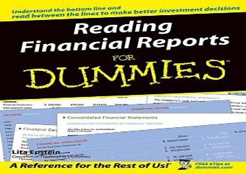[+][PDF] TOP TREND Reading Financial Reports For Dummies  [DOWNLOAD]