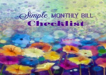[+]The best book of the month Simple Monthly Bill Checklist: Volume 11 (Basic Monthly Bill Checklist)  [NEWS]