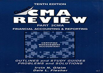 [+][PDF] TOP TREND Cma/Cfm Review: Financial Accounting and Reporting [PDF]