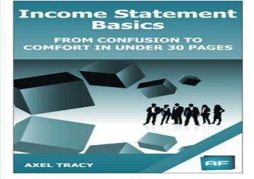 [+][PDF] TOP TREND Income Statement Basics: From Confusion to Comfort in Under 30 Pages: Volume 2 (Financial Statement Basics) [PDF]