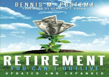 [+][PDF] TOP TREND Retirement You Can t Outlive Updated and Expanded  [READ]