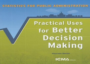 [+][PDF] TOP TREND Statistics for Public Administration: Practical Uses for Better Decision Making  [DOWNLOAD]