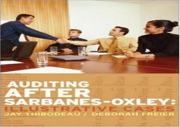 [+][PDF] TOP TREND Auditing After Sarbanes-Oxley  [FREE]