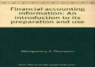 [+][PDF] TOP TREND Financial accounting information: An introduction to its preparation and use [PDF]