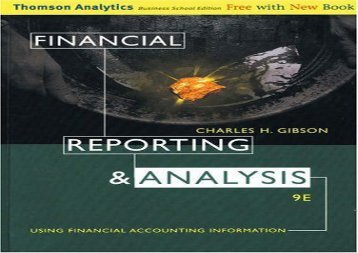 [+][PDF] TOP TREND Financial Reporting and Analysis: Using Financial Accounting Information [PDF]
