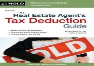 [+]The best book of the month The Real Estate Agent s Tax Deduction Guide [PDF]
