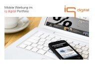 Mobile Werbung im iq digital Portfolio - iq media marketing