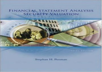 [+][PDF] TOP TREND Financial Statement Analysis and Security Valuation  [FULL]