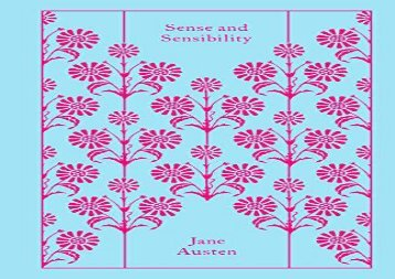 [+]The best book of the month Sense and Sensibility (Penguin Clothbound Classics) [PDF]