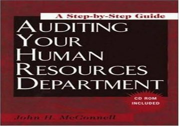 [+]The best book of the month How to Audit Your Human Resources Department: A Step-by-Step Guide (Looseleaf/CD)  [READ]