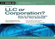 [+]The best book of the month LLC or Corporation?: How to Choose the Right Form for Your Business  [FREE]
