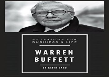 [+]The best book of the month Warren Buffett: 43 Lessons for Business   Life  [NEWS]