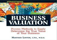 [+][PDF] TOP TREND Streetwise Business Valuation: Proven Methods to Easily Determine the True Value of Your Business (Adams Streetwise Series)  [FREE]