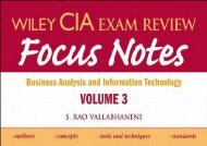 [+][PDF] TOP TREND Wiley CIA Exam Review Focus Notes: Business Analysis and Information Technology v. 3 (Wiley CIA Examination Review)  [READ]