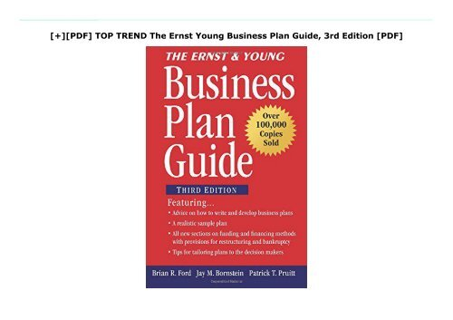 [+][PDF] TOP TREND The Ernst   Young Business Plan Guide, 3rd Edition [PDF]