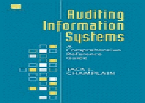 [+][PDF] TOP TREND Auditing Information Systems: A Comprehensive Reference Guide  [FREE]