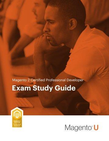 Magento 2 Certified Professional Developer Exam Study Guide