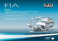 [+][PDF] TOP TREND FIA Recording Financial Transactions FA1 FIA - Recording Financial Transactions FA1: FA1 FA1 (Study Text)  [DOWNLOAD]