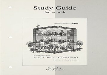 [+]The best book of the month Study Guide to accompany Fundamentals of Financial Accounting  [FREE]