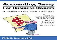 [+][PDF] TOP TREND Accounting Savvy for Business Owners: A Guide to the Bare Essentials  [READ]