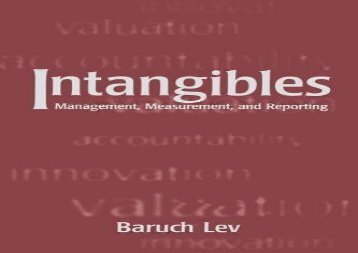[+]The best book of the month Intangibles: Management, Measurement, and Reporting  [FREE]