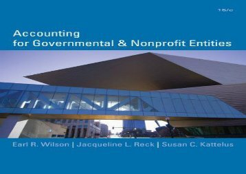 [+][PDF] TOP TREND Accounting for Governmental   Nonprofit Entities [With Access Code] [PDF]