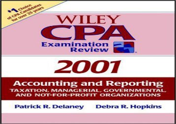 [+][PDF] TOP TREND Wiley CPA Examination Review: Accounting and Reporting Taxation, Managerial, Governmental and Not-for-profit Organisations (Wiley CPA Examination Review: Regulation)  [NEWS]