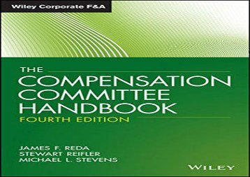 [+][PDF] TOP TREND The Compensation Committee Handbook (Wiley Corporate F A (Unnumbered))  [DOWNLOAD]