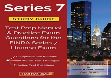 [+][PDF] TOP TREND Series 7 Study Guide: Test Prep Manual   Practice Exam Questions for the FINRA Series 7 License Exam  [NEWS]
