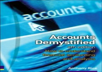 [+][PDF] TOP TREND Accounts Demystified: How to understand financial accounting and analysis  [READ]
