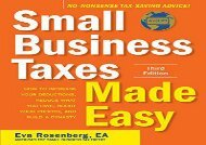 [+]The best book of the month Small Business Taxes Made Easy  [READ]