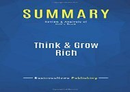 [+][PDF] TOP TREND Summary: Think   Grow Rich: Review and Analysis of Hill s Book  [READ]