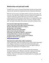 Relationships and paid work toolkit - EEO Trust