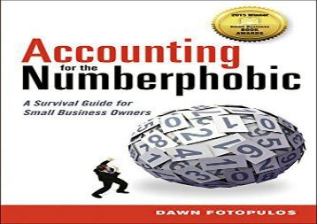 [+]The best book of the month Accounting for the Numberphobic: A Survival Guide for Small Business Owners  [NEWS]