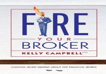 [+]The best book of the month Fire Your Broker  [NEWS]