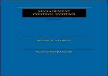 [+]The best book of the month Management Control Systems  [NEWS]